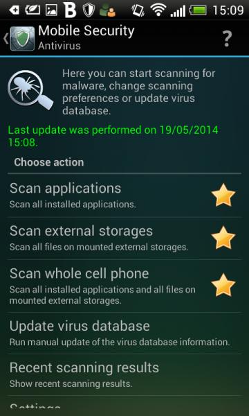Бесплатный антивирус для смартфона